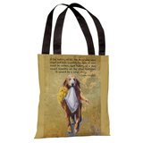Retriever Love Tote Bag by Graviss Studios Tote Bag