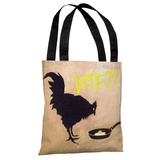 Chicken and Egg WTF Tote Bag by Banksy Tote Bag