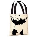 Panda Tote Bag by Banksy Tote Bag
