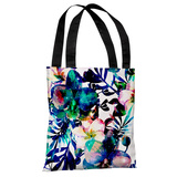 Midnight Blooms - White Indigo Tote Bag by OBC Tote Bag
