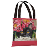 Fur and Flowers Tote Bag by Graviss Studios Tote Bag