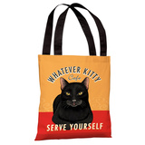 Whatever Kitty Café Tote Bag by Retro Pets Tote Bag