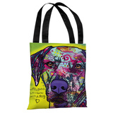 Rhodesian Ridgeback with Text Tote Bag by Dean Russo Tote Bag by Dean Russo