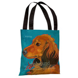 Daschund 4 Tote Bag by Ursula Dodge Tote Bag