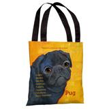 Pug 3 Tote Bag by Ursula Dodge Tote Bag