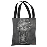 Be Full of Joy - Gray White Tote Bag by Lily & Val Tote Bag by Lily & Val