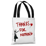 Thanks for Nothing Tote Bag by Banksy Tote Bag