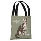 Hear You, Not Listening - Artichoke Almond Tote Bag by Dog is Good Tote Bag by Dog is Good