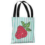 Strawbooty - Teal Multi Tote Bag by OBC Tote Bag