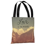 Love is the Answer Mountains - Multi Tote Bag by OBC Tote Bag