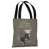 Fun and Games - Stone Grey Tote Bag by Dog is Good Tote Bag by Dog is Good
