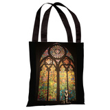 Stained Glass Graffiti Tote Bag by Banksy Tote Bag