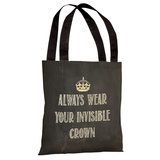 Invisible Crown Chalkboard Tote Bag by OBC Tote Bag
