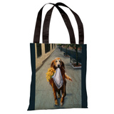 Daisy Retriever Tote Bag by Graviss Studios Tote Bag