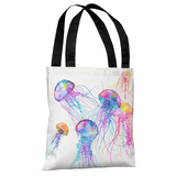 Jellyfish - Multi Tote Bag by Ana Victoria Calderon Tote Bag