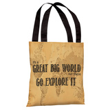 Great Big World Map Tote Bag by OBC Tote Bag