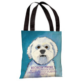 Bichon Frise 1 Tote Bag by Ursula Dodge Tote Bag