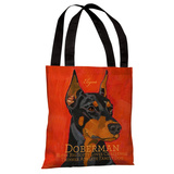 Doberman 1 Tote Bag by Ursula Dodge Tote Bag