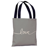 Love Mix & Match - Gray Tote Bag by OBC Tote Bag