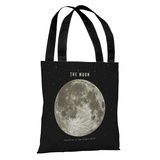 The Moon - Black Tote Bag by Terry Fan Tote Bag