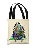 Pug Headdress - Multi Tote Bag by OBC Tote Bag