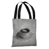 Whale in a Teacup - Gray Tote Bag by Terry Fan Tote Bag