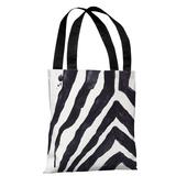 Stripey Zebra - White Black - White Black Tote Bag by lezleelliott Tote Bag by lezleeliott