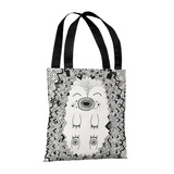 Happy Hog Blue - 18' Polyester Tote by Susan Claire Tote Bag by Susan Claire