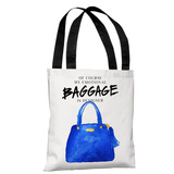 Emotional Baggage- White Blue - White Blue Tote Bag by lezleelliott Tote Bag by lezleeliott