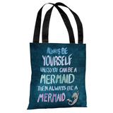 Be A Mermaid - Navy Multi Tote Bag by OBC Tote Bag