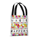 Magic Happens Orange - 18' Polyester Tote by Susan Claire Tote Bag by Susan Claire
