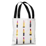 Lip Glam - Multi - Multi Tote Bag by lezleelliott Tote Bag by lezleeliott