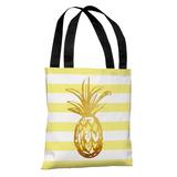 Tropical Stripes Pineapple - Tote Bag Tote Bag