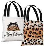 Mon Cherie Makeup Bag - Brown Tote Bag by Timree Tote Bag