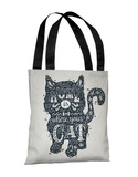 Home Is Where The Cat Is - Navy Tote Bag by OBC Tote Bag