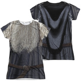 Juniors: Lord Of The Rings- Galdalf The Grey Costume Tee (Front/Back) Womens Sublimated