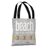 Beach Life - Gray Tote Bag by Tote Bag