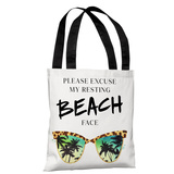 Resting Beach Face - Multi - Multi Tote Bag by lezleelliott Tote Bag by lezleeliott