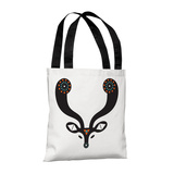 Navajo Deer Blue - 18' Polyester Tote by Susan Claire Tote Bag by Susan Claire
