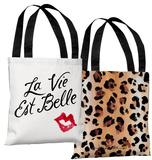 La Vie Est Belle - Red Tote Bag by Timree Tote Bag