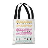 Be Happy Bright You - 18' Polyester Tote by Susan Claire Tote Bag by Susan Claire