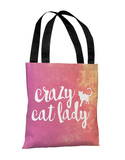 Crazy Cat Lady Paint - Multi Tote Bag by OBC Tote Bag