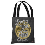 Moon and Back - Gray Multi Tote Bag by Lily & Val Tote Bag by Lily & Val
