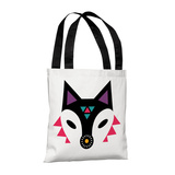 Navajo Fox Purple - 18' Polyester Tote by Susan Claire Tote Bag by Susan Claire