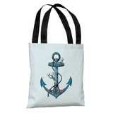 Lost at Sea Blue - Multi Tote Bag by Terry Fan Tote Bag