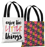 Enjoy The Little Things - Multi Tote Bag by Pen & Paint Tote Bag