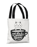 Good Morning Kitten-02.jpg - Black Pink Tote Bag by OBC Tote Bag