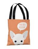 Peeking Chihuahua - Tangerine Tote Bag by OBC Tote Bag