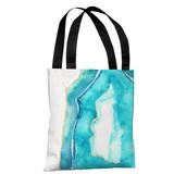 Bold Formations - Caribbean Aqua - Caribbean Aqua Tote Bag by lezleelliott Tote Bag by lezleeliott