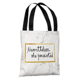 Nevertheless She Persisted - White Tote Bag by OBC Tote Bag